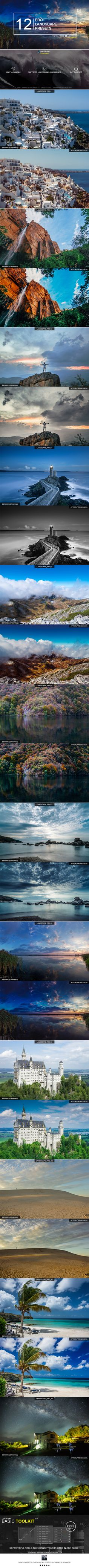 12 Pro Landscape Presets by zvolia About 12 Pro Landscape Presets: This professional presets which are designed to be used with landscape photos. They have been test