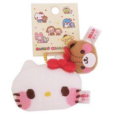Velkommen | Rakuten Global Market: Key chain mail order including the pair baud chain mascot key ring Hello Kitty & Thailand knee Cham ゆるかわ Sanrio's cute mini-sewing