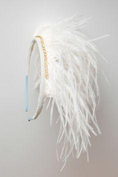 Hairband, handmade by Lieschen Mueller Feather Hairband, Feather Headband, Headbands, Feather Crown, The Rok, Bird Costume, Party Hats, Headdress, Diy Hairstyles
