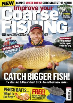Improve Your Coarse Fishing Issue 322 -Two covers to choose from! Sea Angling, Fishing Magazines, Coarse Fishing, Types Of Fish, Big Fish, New Series, Fly Fishing, Dean, Ali