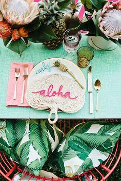 Aloha Shower Inspiration Color Hawaiian Theme Luau Vintage