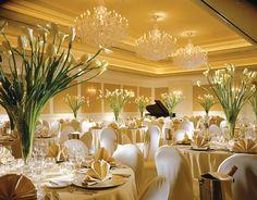 Classic Elegance white tulip centerpiece design