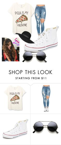 """Simply PIZZa"" by ashley-ploog on Polyvore featuring Converse, Topshop, women's clothing, women's fashion, women, female, woman, misses and juniors"
