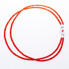 Carnelian necklace with inlaid clasp from Wanderlust Jewels LLC for $200.00