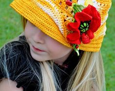 CROCHET PATTERN Rose Buds Crocheted Hat by mylittlecitygirl