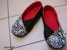 """...papelhilo-blog...: chaussons """"kimono rouge"""""""