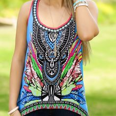 Tribal tank/tunic Flying tomato funky tribal tank. High-low style and sure to be a crowd pleaser. Pair with leggings or shorts in the summer. Flying Tomato Tops Blouses