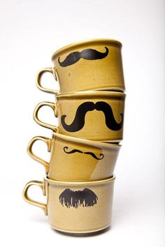 We mustache you how much you love these mugs? #Coffee #Mugs #MrCoffee