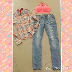 #cuadros#leñadora#jeans