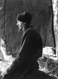Russian monk praying