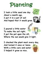 Themed Poems KS1- seeds and plants - Resources - TES