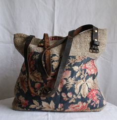 Rosehip in the Country — Rosehip Bag handmade with french oatmeal fabric,...
