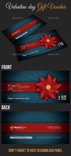 Multiuse Gift Voucher and Postcard V02 - payment voucher template