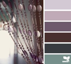 Beautiful color combination, beaded hues: design-seeds.com