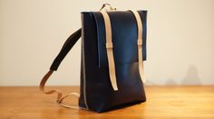Leather ruck sack / backpack 22L by SoftGeometryCo on Etsy, $500.00