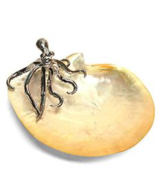 Look at this #zulilyfind! Mother-of-Pearl Octopus Dish #zulilyfinds
