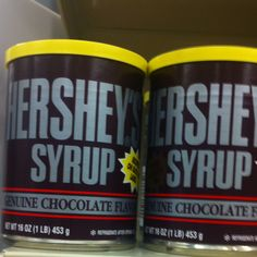 Remember when your chocolate syrup came in a can, and you needed the plastic top for it to keep during storage....