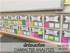 Interactive Character Analysis-perfect way to keep track of all the characters/traits you meet all year!