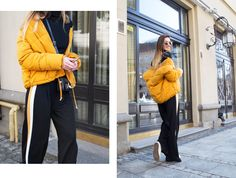 outfit-puffer-jacket-mustard-track-pants