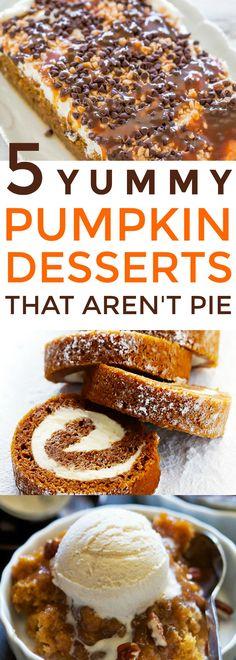 Pumpkin Dessert Recipes, Thanksgiving desserts, Fall Desserts, Yummy Desserts
