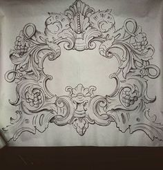 ornaments drawing Happy New Year Wood Carving Patterns, Carving Designs, Baroque, Ornament Drawing, Leather Tooling Patterns, Arabesque, Architectural Elements, Sculpture, Clipart