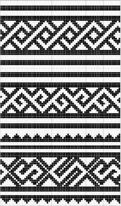 Charted Patterns from Medieval Egypt - Pattern Darning Tapestry Crochet Patterns, Bead Loom Patterns, Crochet Stitches Patterns, Weaving Patterns, Mosaic Patterns, Cross Stitch Patterns, Knitting Patterns, Crochet Diagram, Crochet Chart