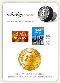 Top whisky blog according to Connosr, Whisky for Everyone, Malt Whisky Yearbook and the International Whisky Competition