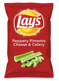 Wouldn't Peppery Pimento Cheese & Celery be yummy as a chip? Lay's Do Us A Flavor is back, and the search is on for the yummiest flavor idea. Create a flavor, choose a chip and you could win $1 million! https://www.dousaflavor.com See Rules.