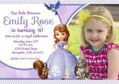 Sofia the First Birthday Party Invitation  por PrettyPaperPixels, $8.99