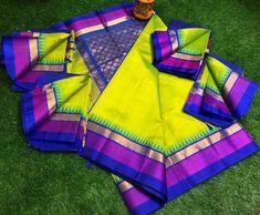 Kuppadam Pattu Sarees, Pattu Saree Blouse Designs, Kanchipuram Saree, Bridal Blouse Designs, Ikkat Silk Sarees, Silk Cotton Sarees, Cotton Silk, South Indian Bride Saree, Latest Silk Sarees