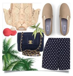 """""""......"""" by mnjoudeh ❤ liked on Polyvore featuring Zizzi, self-portrait, Lands' End, Chanel and Eos"""
