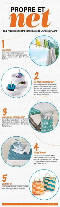 Célébrez le jour de lavage! Cinc façons de rendre votre salle de lavage invitante. #AvonCanada