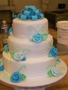 DIY   17 Blue Wedding Cake Ideas ... #reception #party #bride