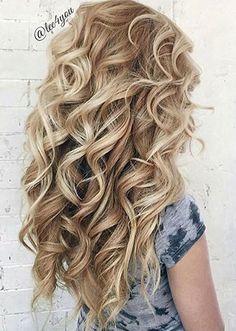 Beautiful blonde curly hair