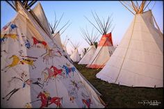 Tipi at Crow Fair, Crow Agency Montana  Taught at Crow for one year before moving on to Missoula