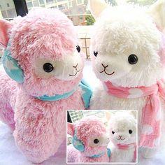 "Adorable 14"" Alpaca Vicugna Arpakasso Alpacasso Earmuff Scarf Plush Doll Toy #Tara"