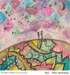 StudioForty.pl CT member - Anai - and her beautiful mixedmedia page , made using studioforty stamp set