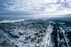 Pripiat, ville abandonnée près de la centrale nucléaire de Tchernobyl, Ukraine