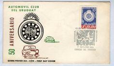 Uruguay 1969 Automobile Club Beautiful Cacheted UA FDC 07/10/1969