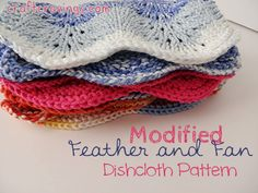 Modified Feather and Fan Dishcloth Pattern - Craft Cravings #knitting #free #pattern