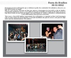 Festa do dia do Síndico 30/11/2012 promovido pelo Secovi SP.