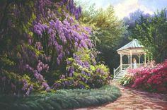 The Gazebo - June Dudley Fine Art Paintings and Prints