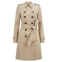 Brown Saskia Trench | Coats | Coats and Jackets | Hobbs
