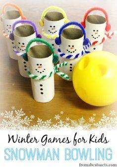 Winter Games Snowman Bowling