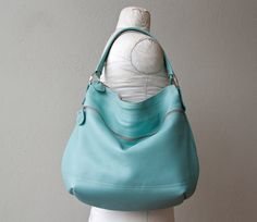 BOHO XL   all leather hobo  with outside zippered by MimsMaine, $228.00