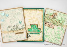 Hello crafters! Today I have a tutorial using one detailed 3-D embossing folder to make three cards. It is a quick and simple debossing tech...