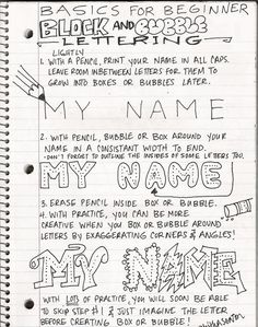 For my boys! The Lost Sock : Art Class Journaling A beginners guide to lettering is a lesson I will teach for journaling. I will have the students take these notes in their journals in order to get them started on the next entry. High School Art, Middle School Art, Drawing Lessons, Art Lessons, Art Handouts, Creative Lettering, Lettering Ideas, Lettering Art, 5th Grade Art