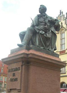 Statue of Aleksander Fredro in Wroclaw, Poland