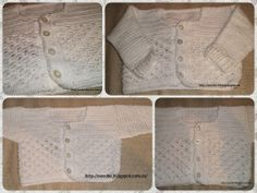 Norobe, hand made: Rebeca blanca de hilo para bebé