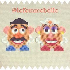 Toy Story Mr & Mrs Potato Head perler beads by lefemmebelle